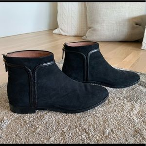 Louise Ent Cie nubuck ankle booties